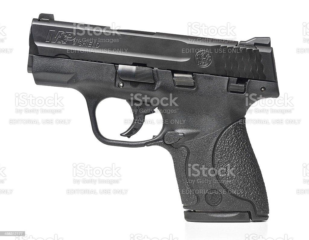 Smith & Wesson M&P 9 Shield handgun royalty-free stock photo