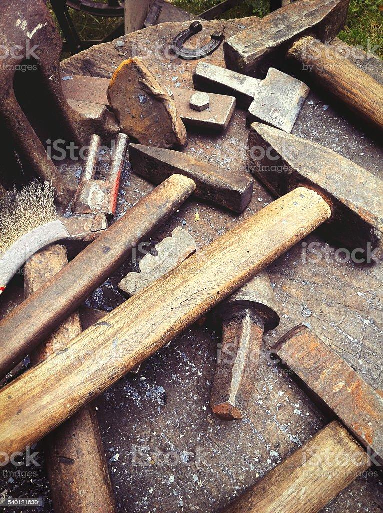 Smith's working tools stock photo