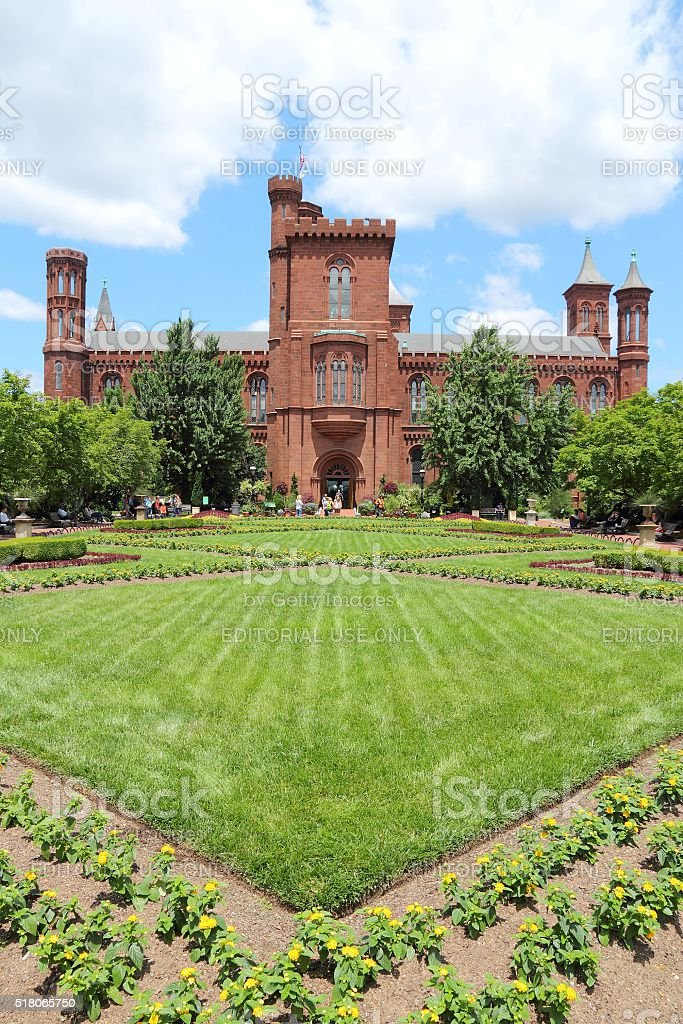 Smithsonian Castle stock photo