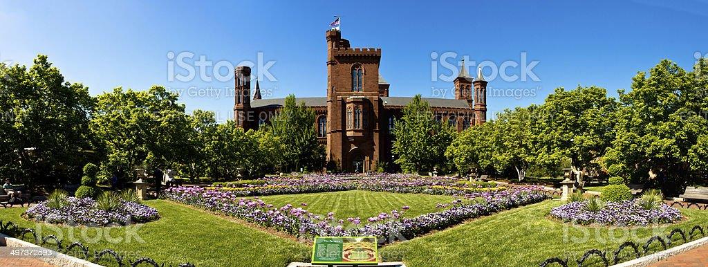 Smithsonian Institution Castle garden stock photo