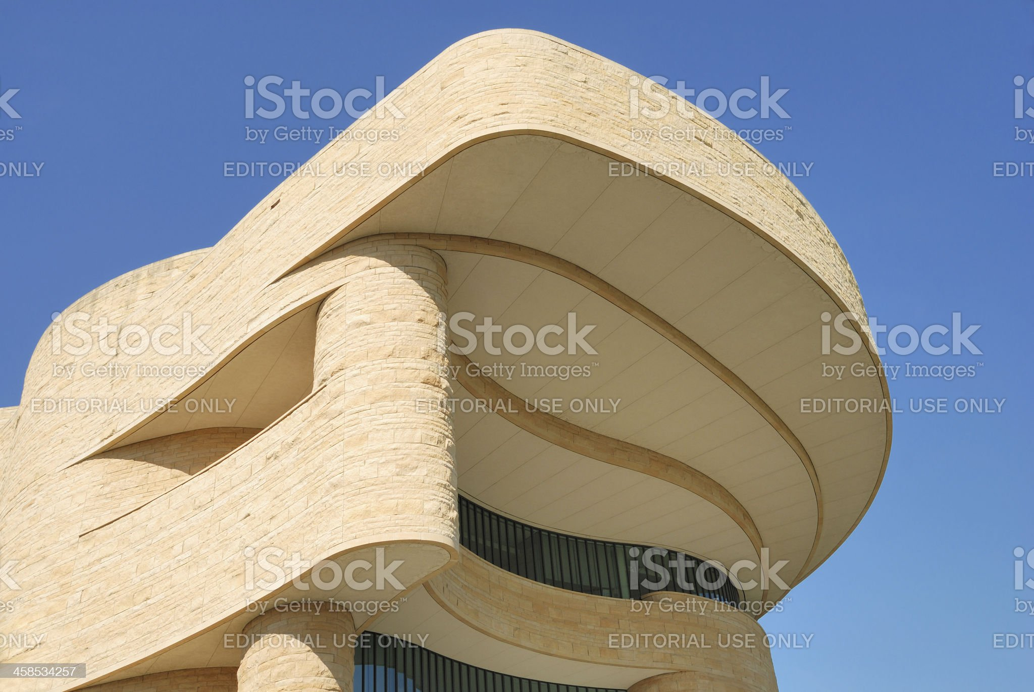 Smithsonian National Museum of the American Indian royalty-free stock photo