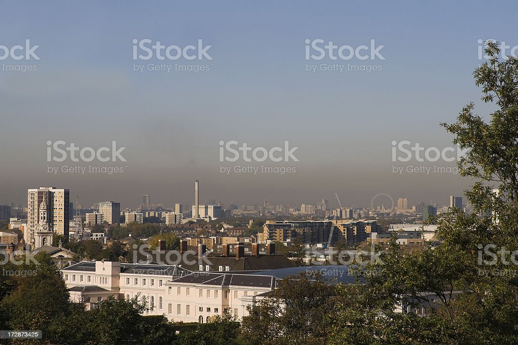 Smog and The City royalty-free stock photo