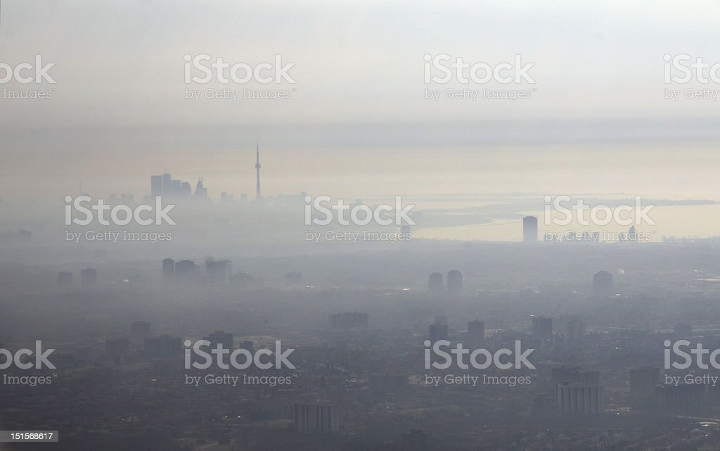 Smog City royalty-free stock photo