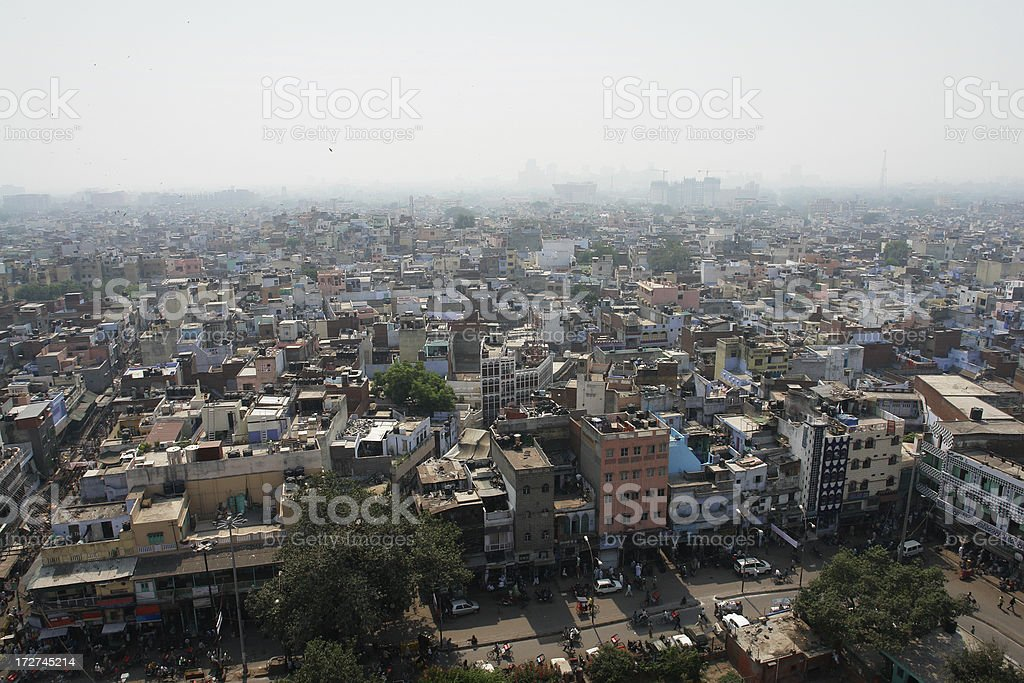Smog in Delhi royalty-free stock photo