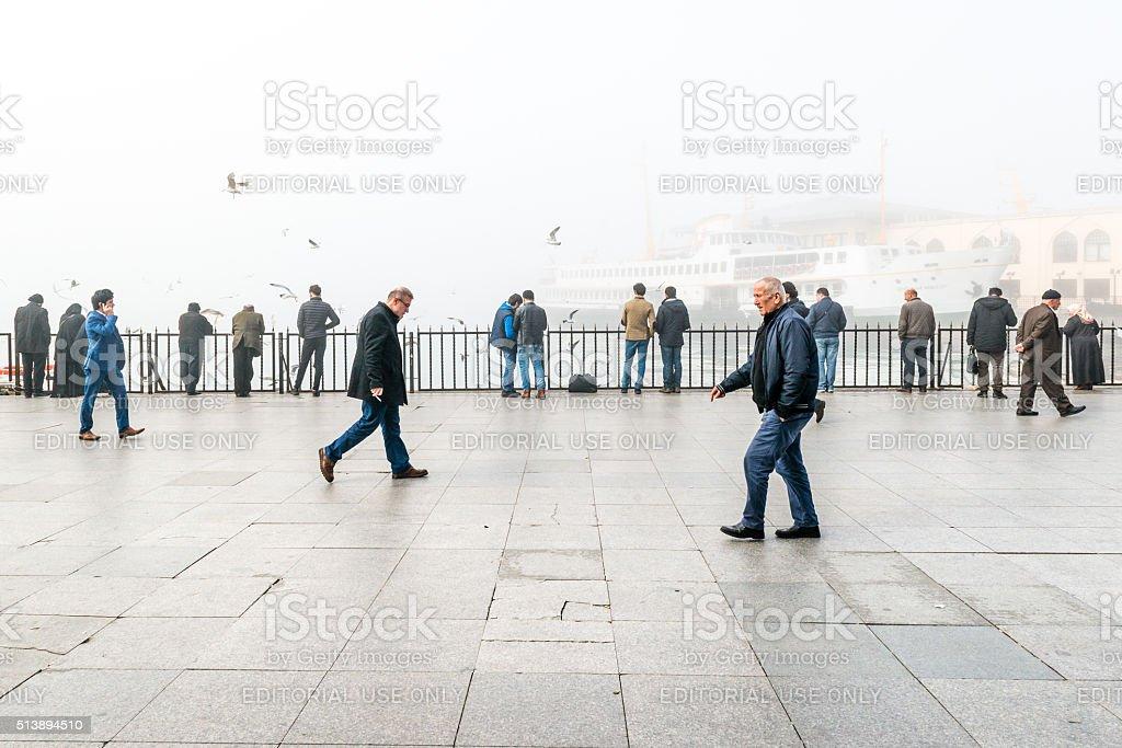 Smog in Istanbul, Turkey stock photo