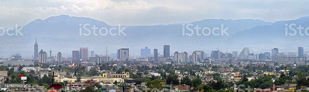 Smog in Mexico City panorama skyline royalty-free stock photo