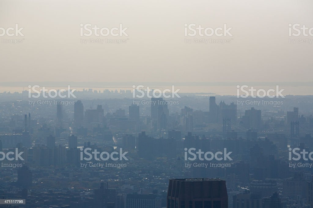 Smog Over New York royalty-free stock photo