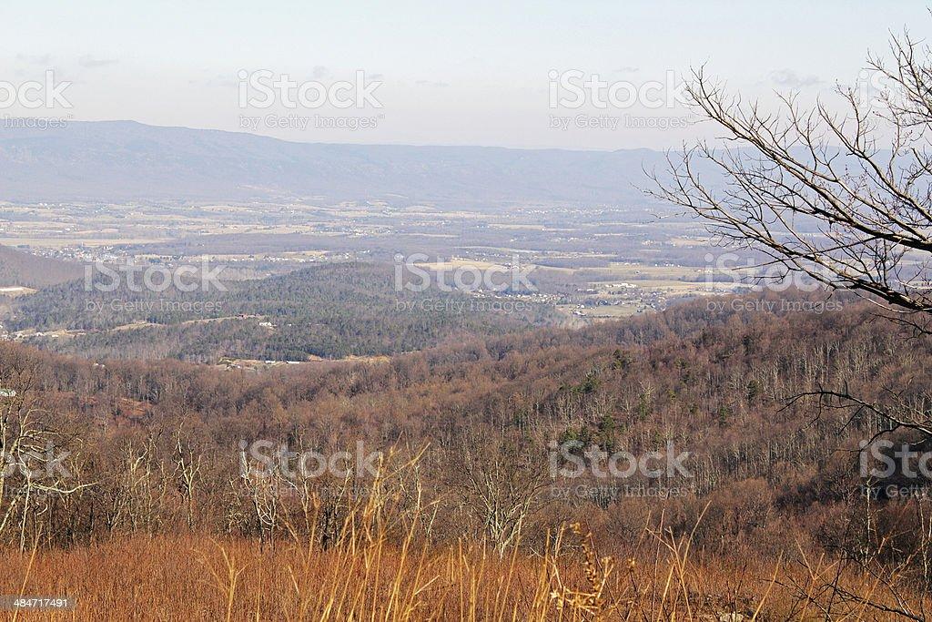 Smog over Shenandoah Valley stock photo