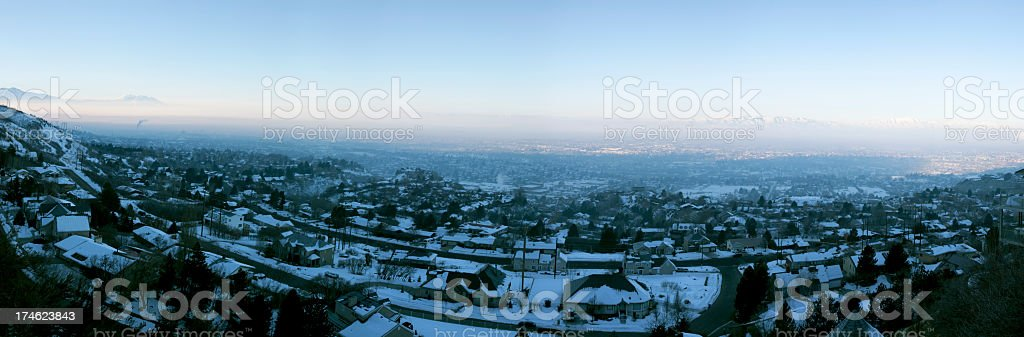 Smog Over the City. stock photo