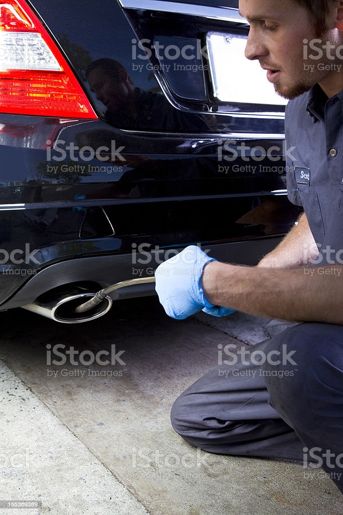 Smog Testing royalty-free stock photo