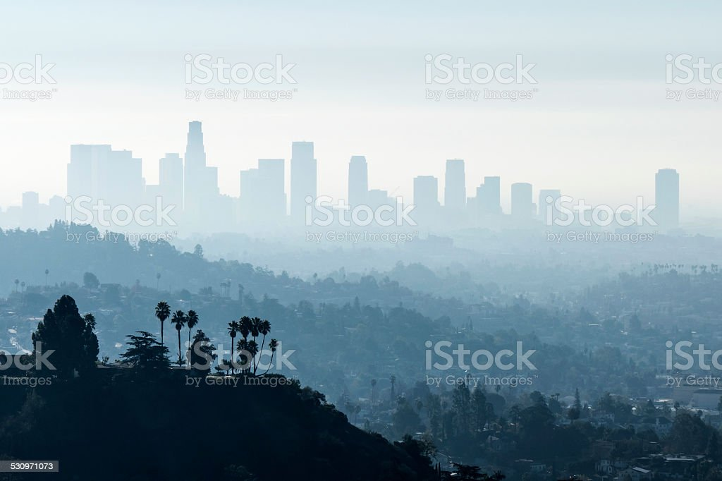 LA Smoggy Fog stock photo