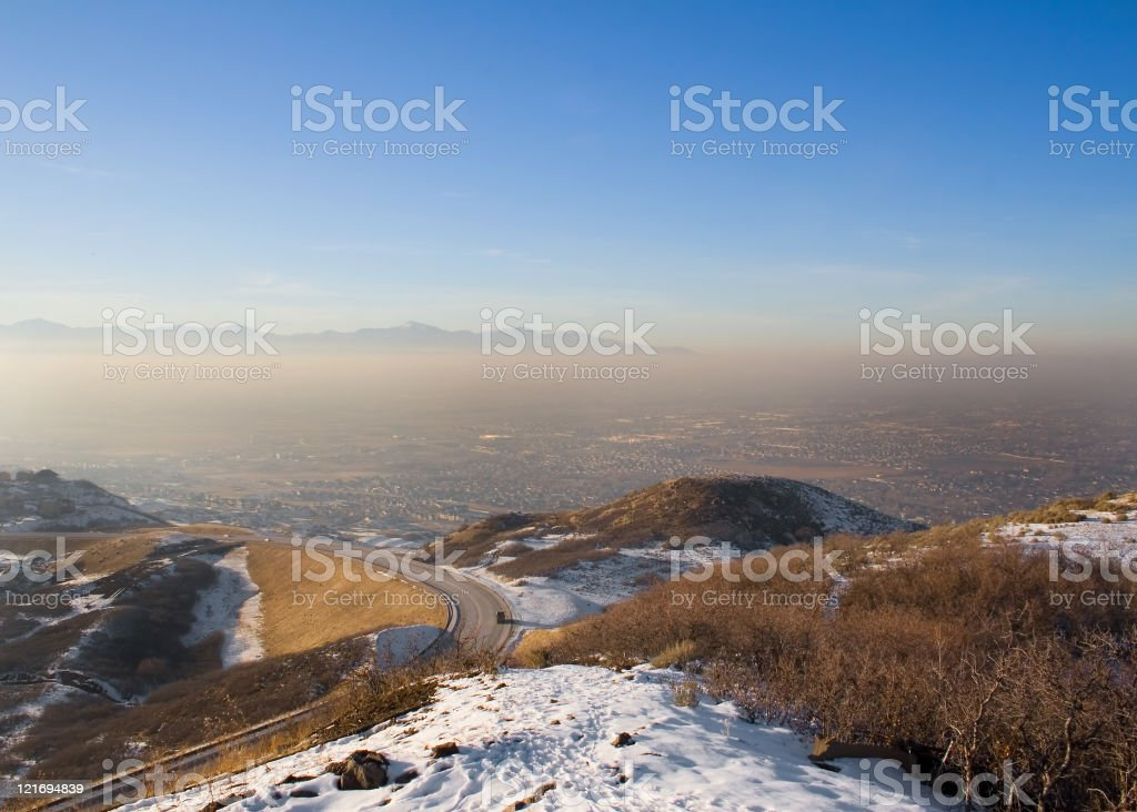 Smoggy Valley royalty-free stock photo