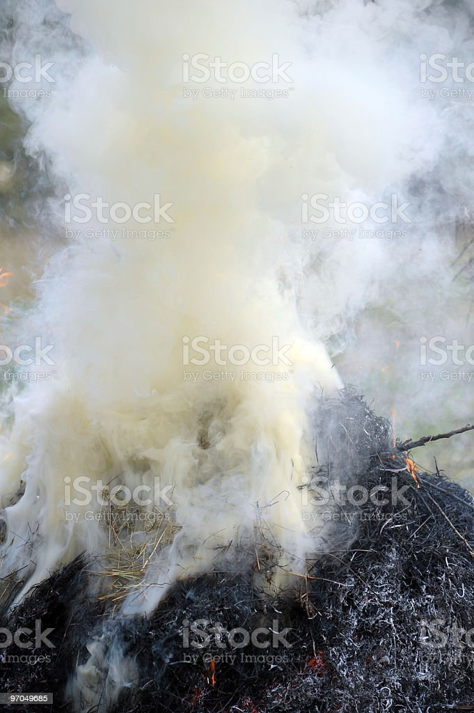 smok from fires stock photo