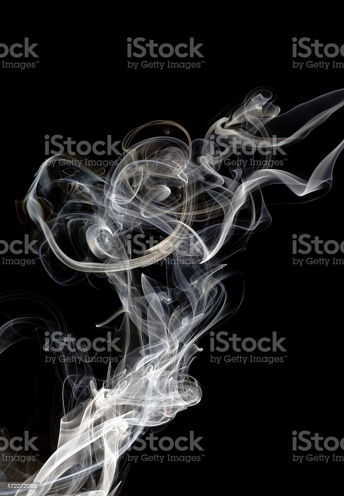 Smoke Abstract Involved royalty-free stock photo