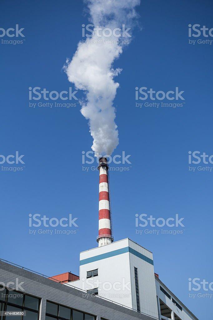 smoke and chimney stock photo