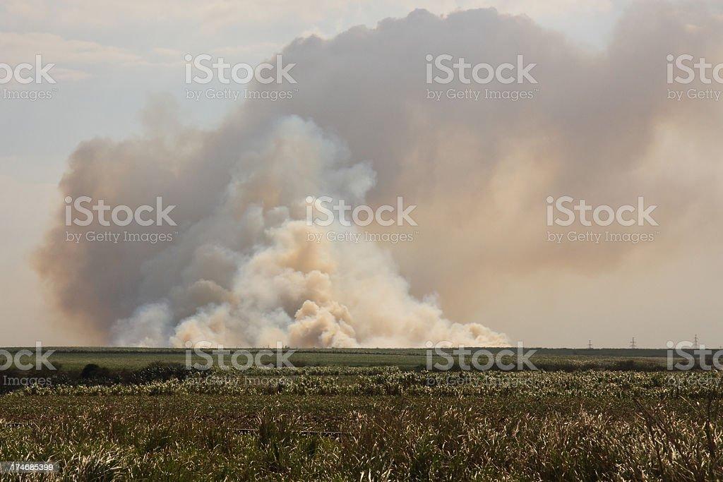 Smoke and fire stock photo