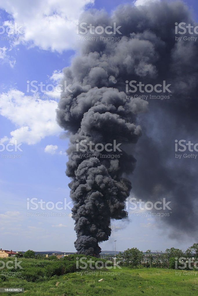 Smoke and fire royalty-free stock photo