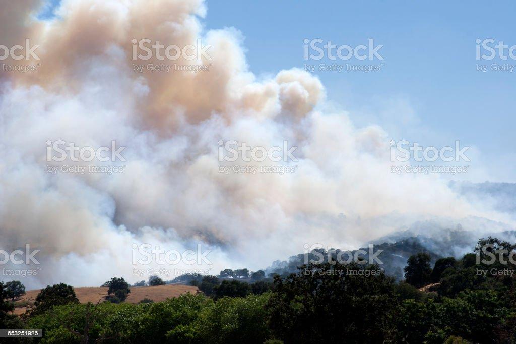Smoke and Flames stock photo