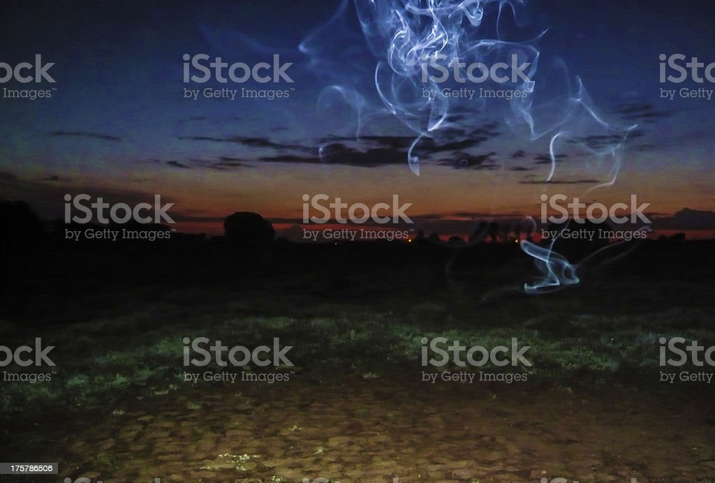 Smoke at Dawn stock photo