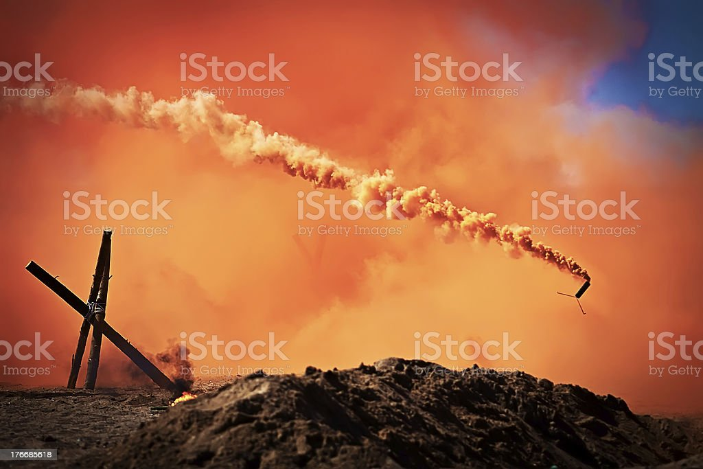 Smoke bombs royalty-free stock photo