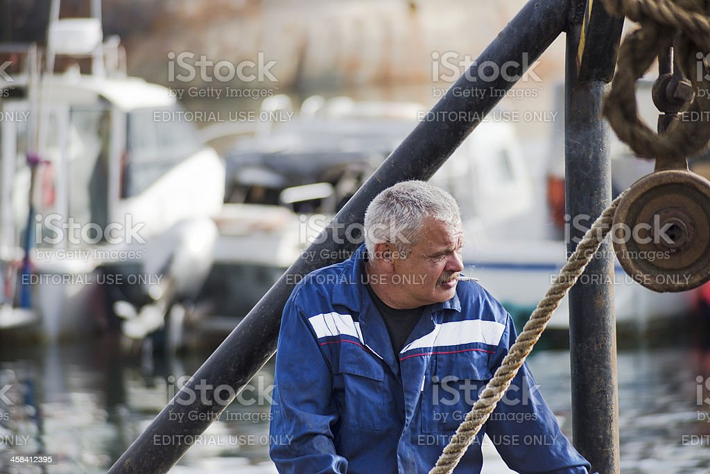 Smoke break. stock photo