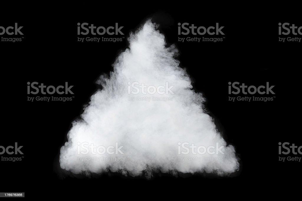 smoke cloud pyramid royalty-free stock photo