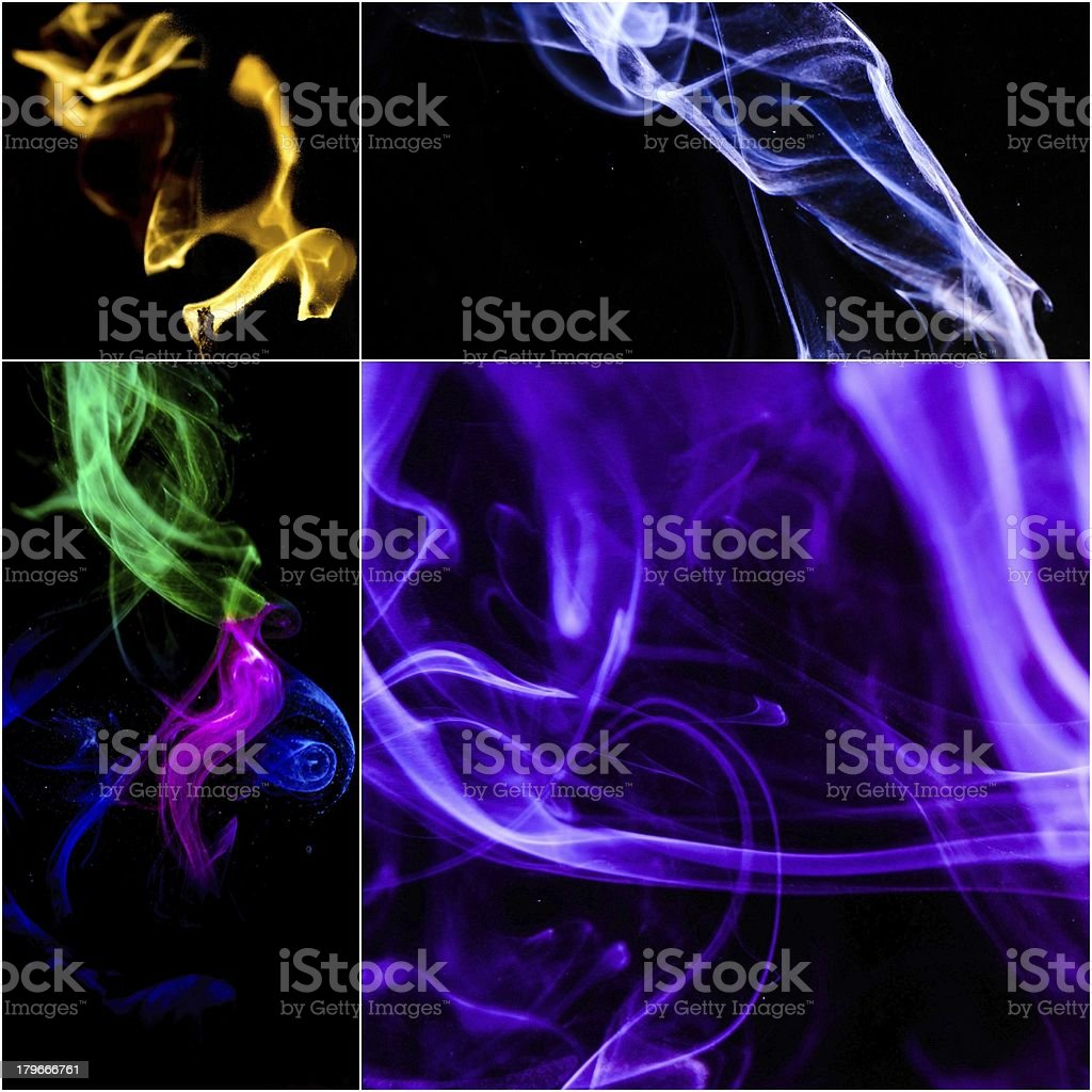Smoke collage royalty-free stock photo