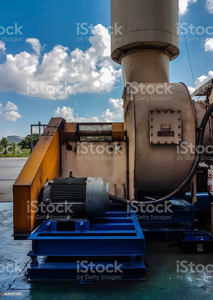 Smoke collector system stock photo