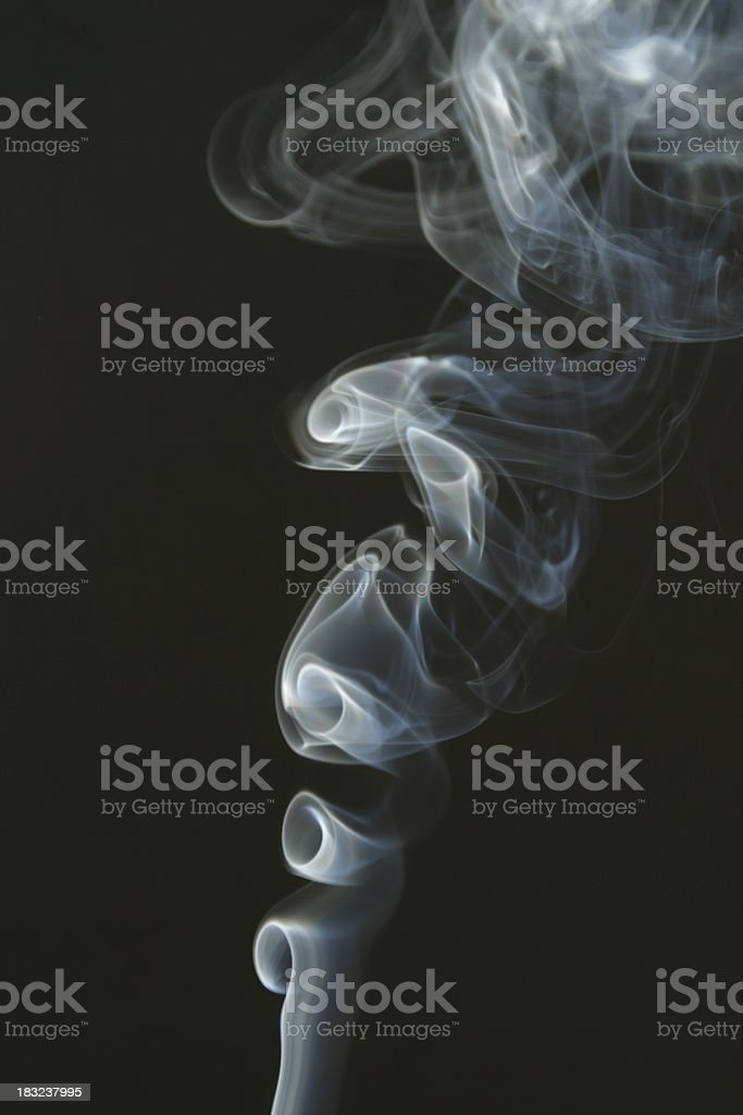 Smoke Curls  Smoking royalty-free stock photo