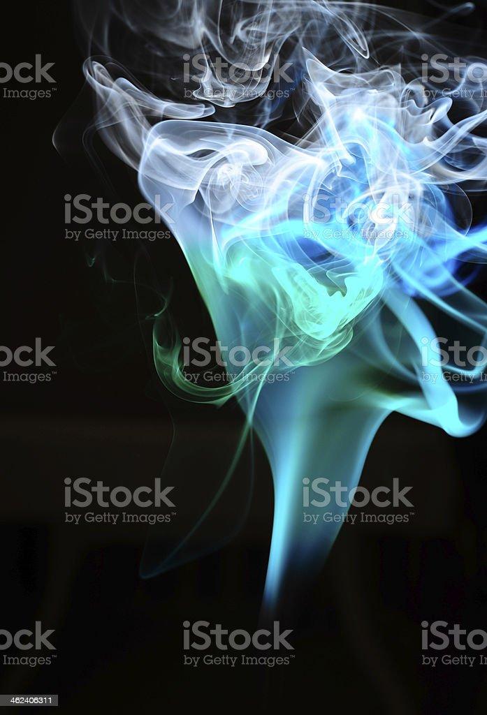 Smoke Curves royalty-free stock photo