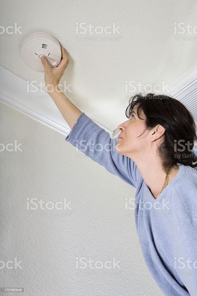 Smoke Detector Inspection stock photo