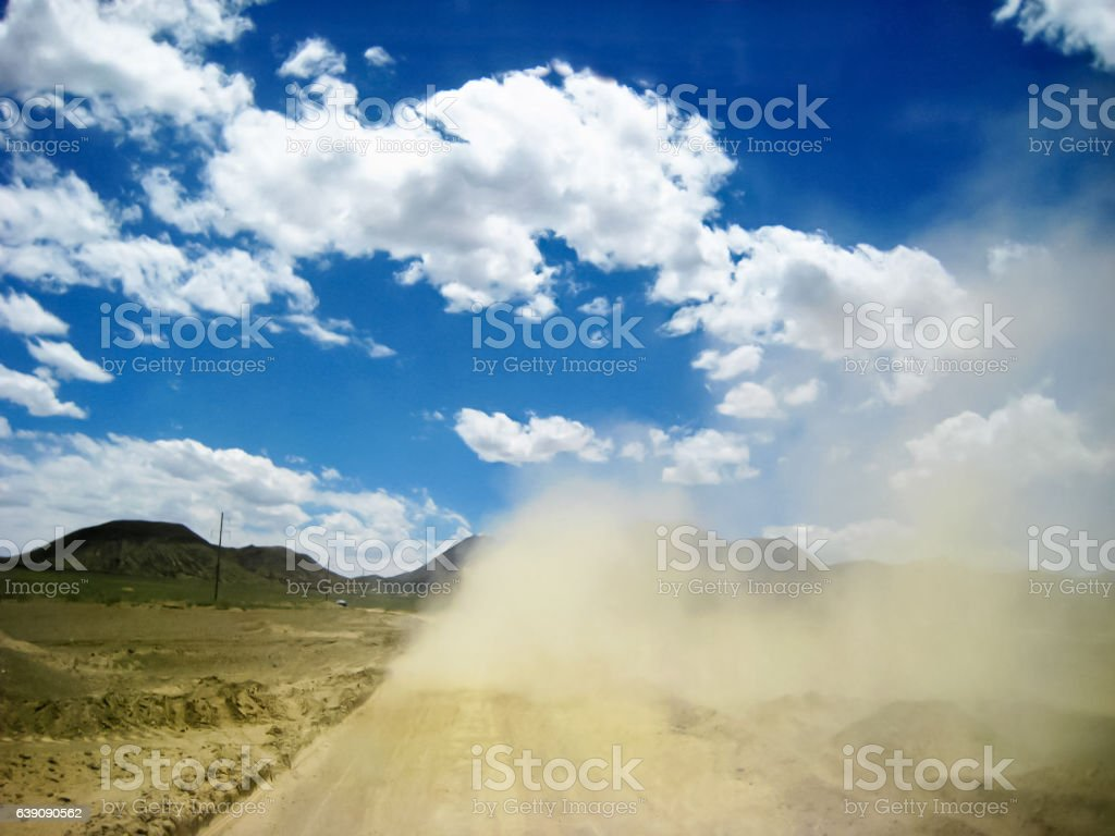 smoke dust stock photo