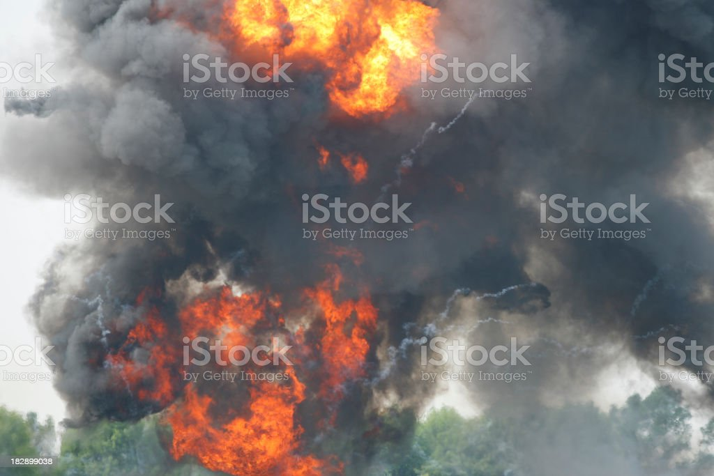 Smoke Explosion stock photo
