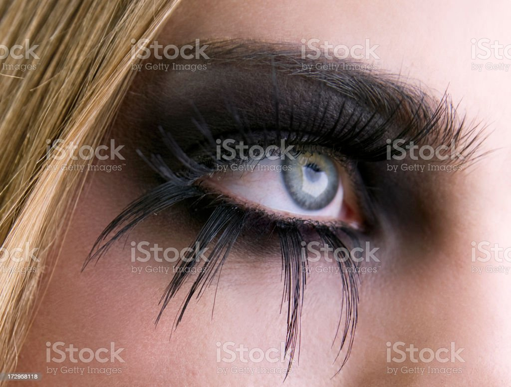 Smoke eye stock photo