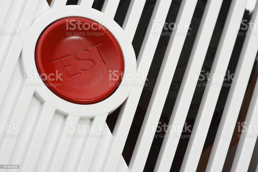 Smoke fire alarm close up royalty-free stock photo