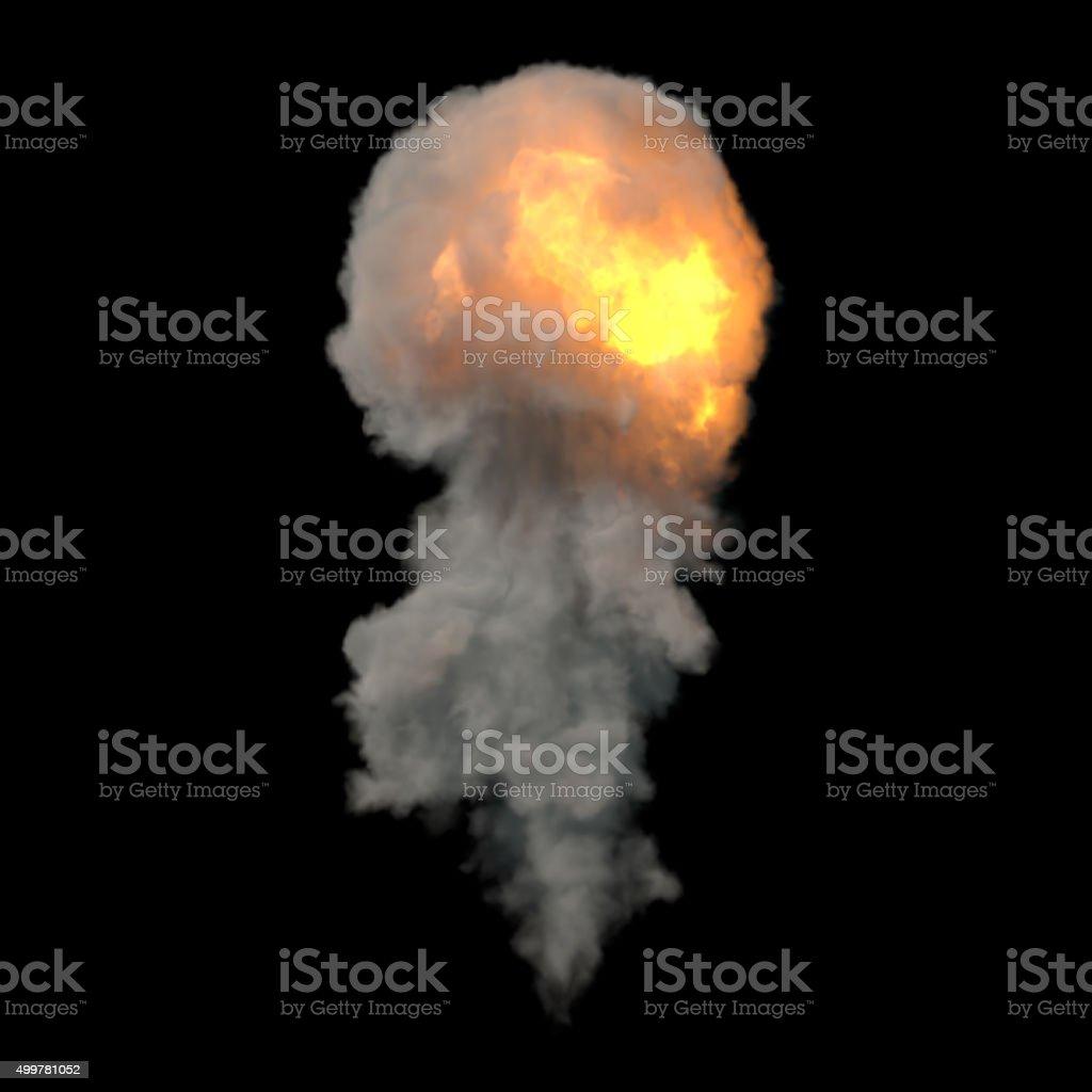 Smoke Fireball Explosion stock photo