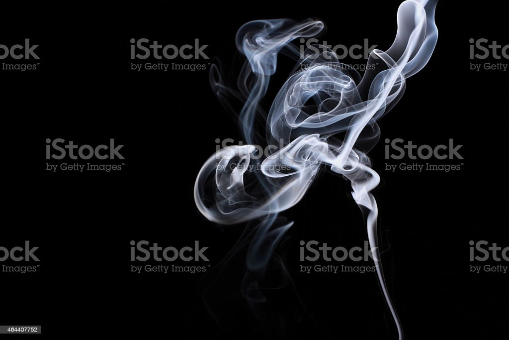 Smoke flower-shaped stock photo