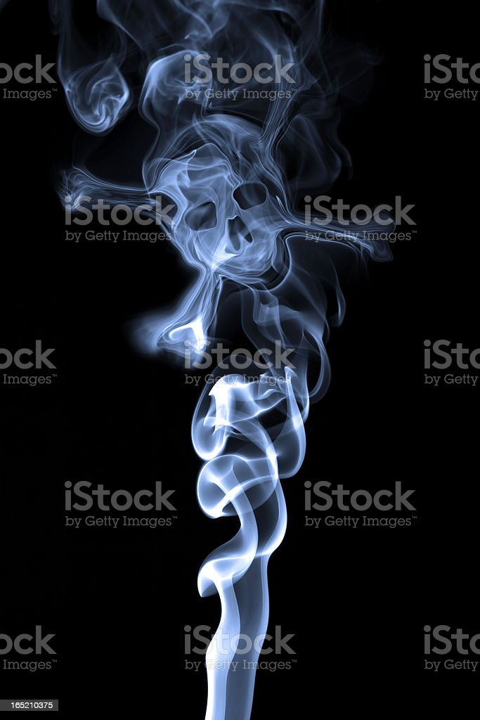 Smoke formation shaped as a human skull stock photo