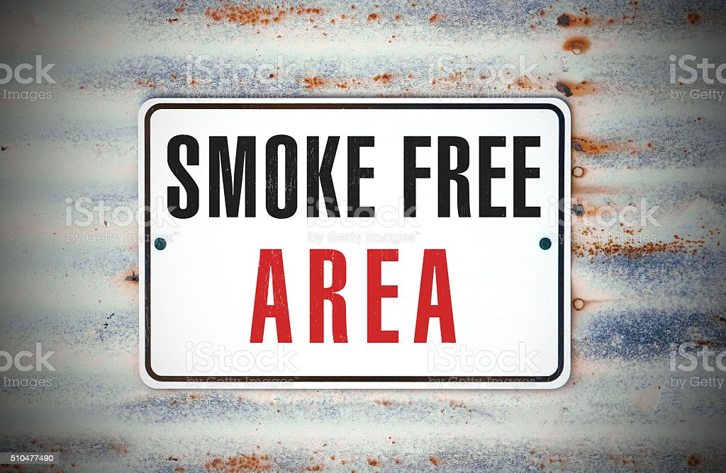 Smoke Free Area stock photo