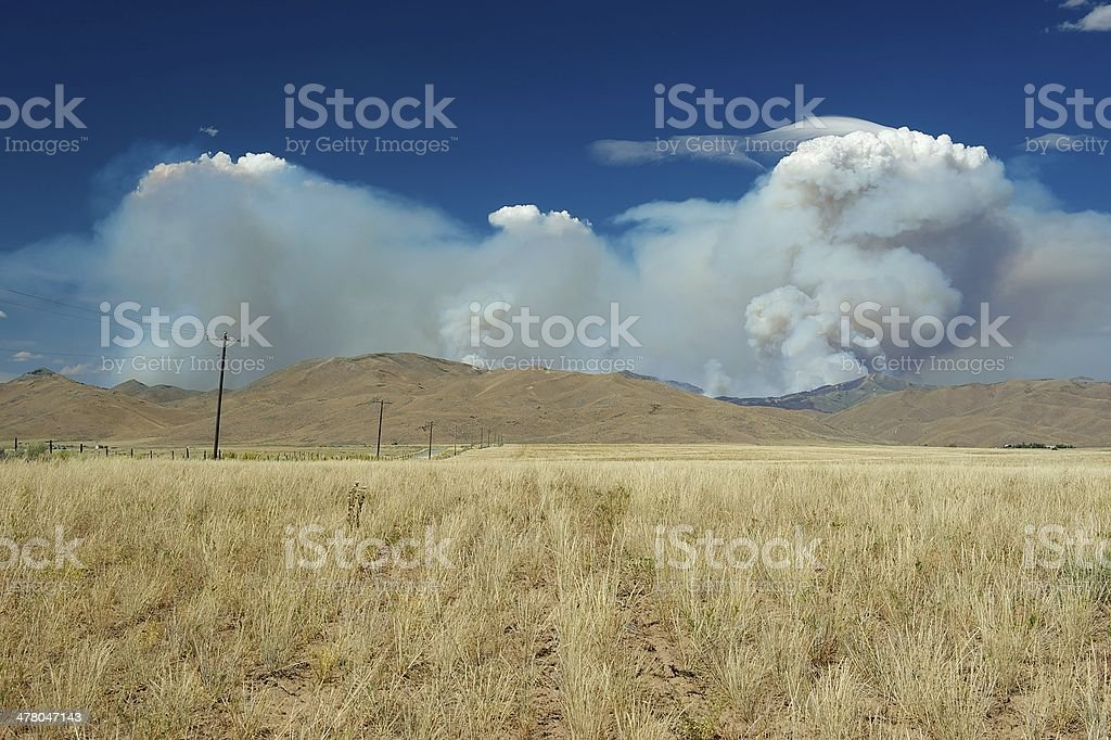 Smoke from Beaver Creek Fire royalty-free stock photo