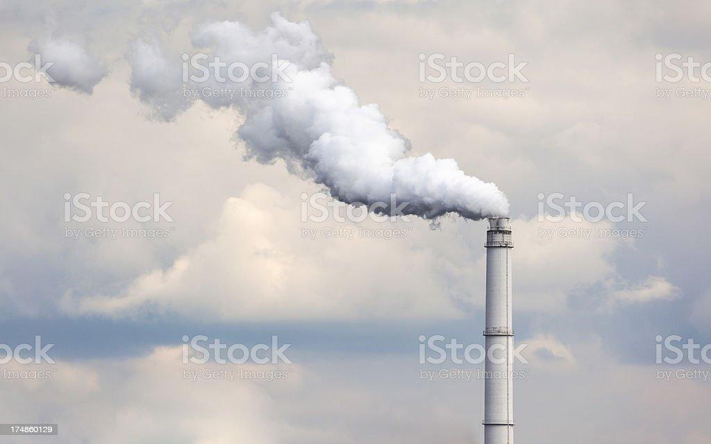 Smoke from chimney royalty-free stock photo