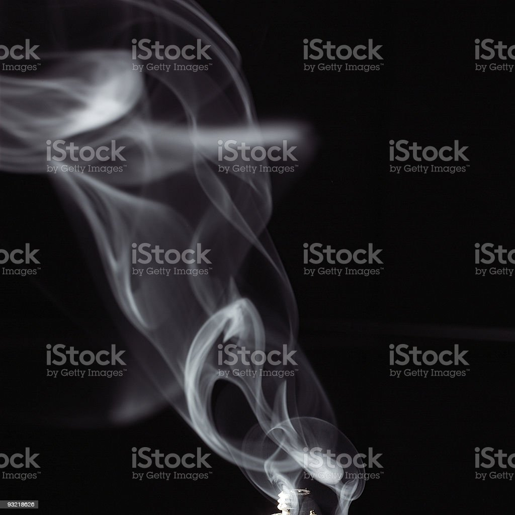 smoke from cigaret royalty-free stock photo