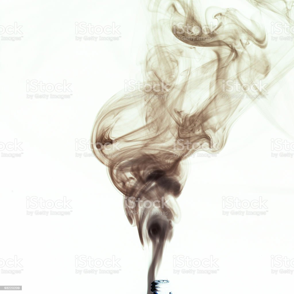 smoke from cigaret stock photo