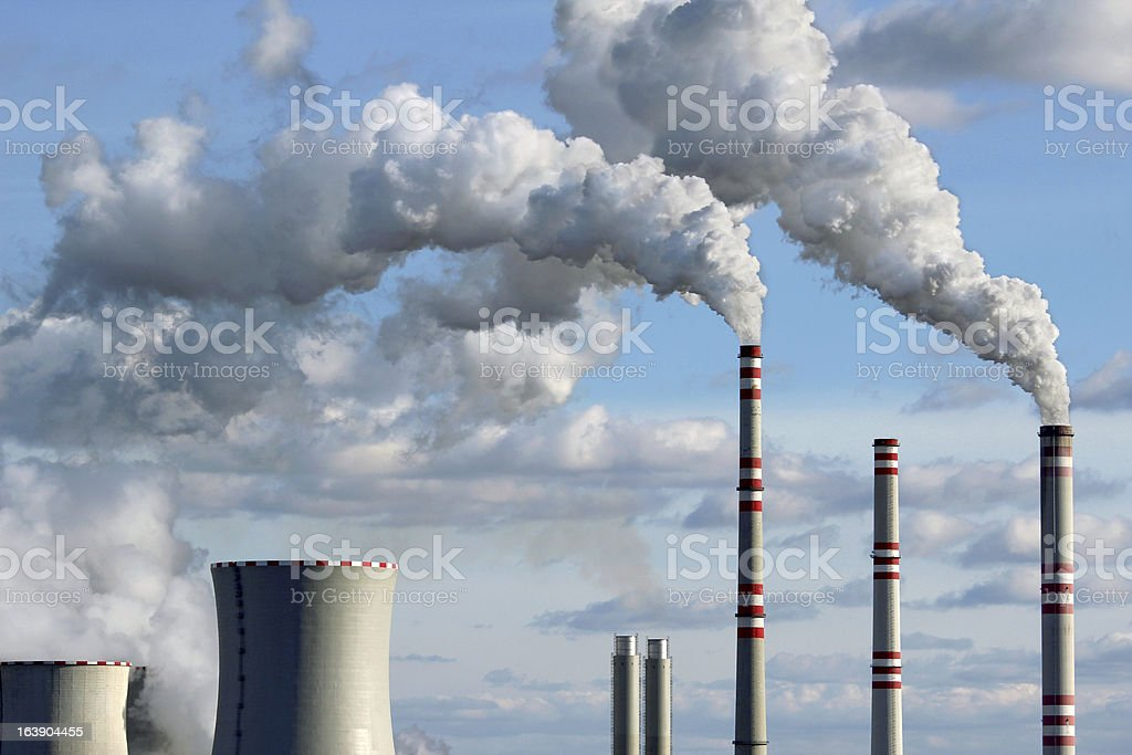 smoke from coal power plant royalty-free stock photo