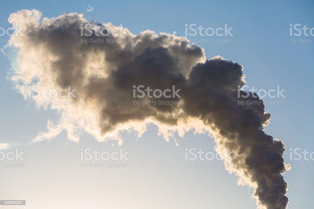 Smoke from factory stock photo