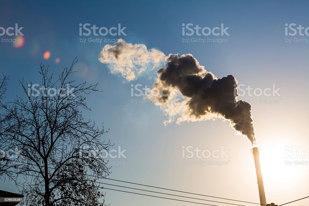 Smoke from factory stock photo