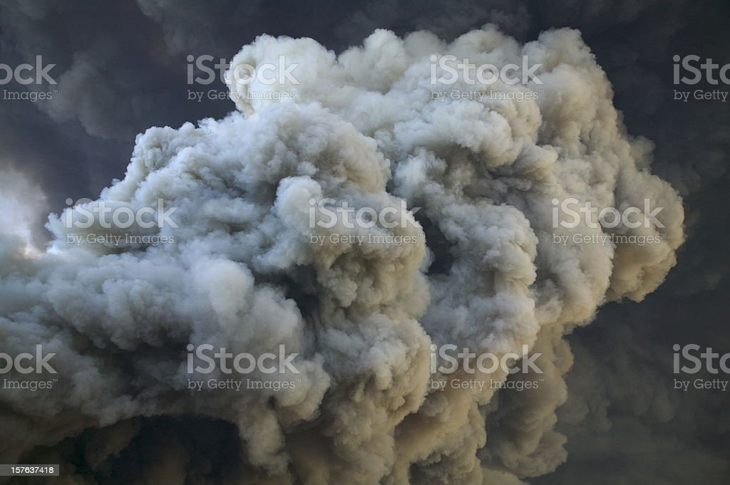 Smoke From Fire royalty-free stock photo