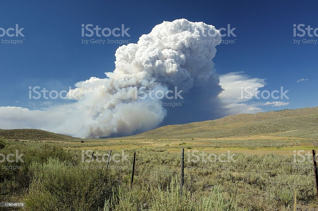 Smoke from McCan Fire royalty-free stock photo