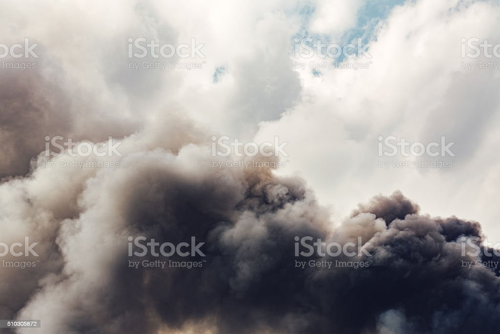 Smoke From The Fire stock photo