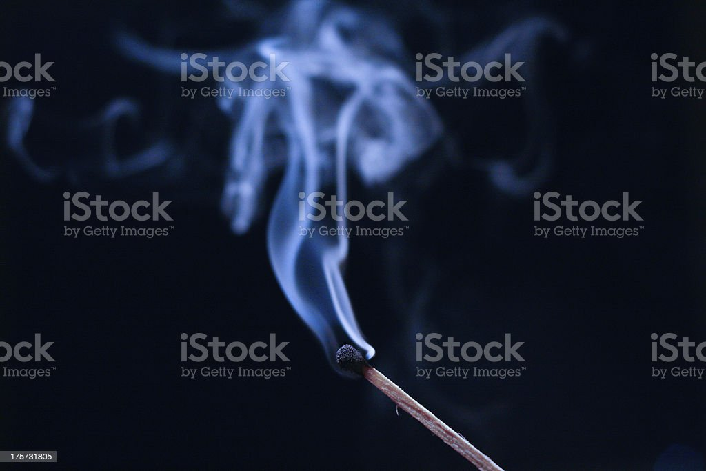 Smoke from the match royalty-free stock photo